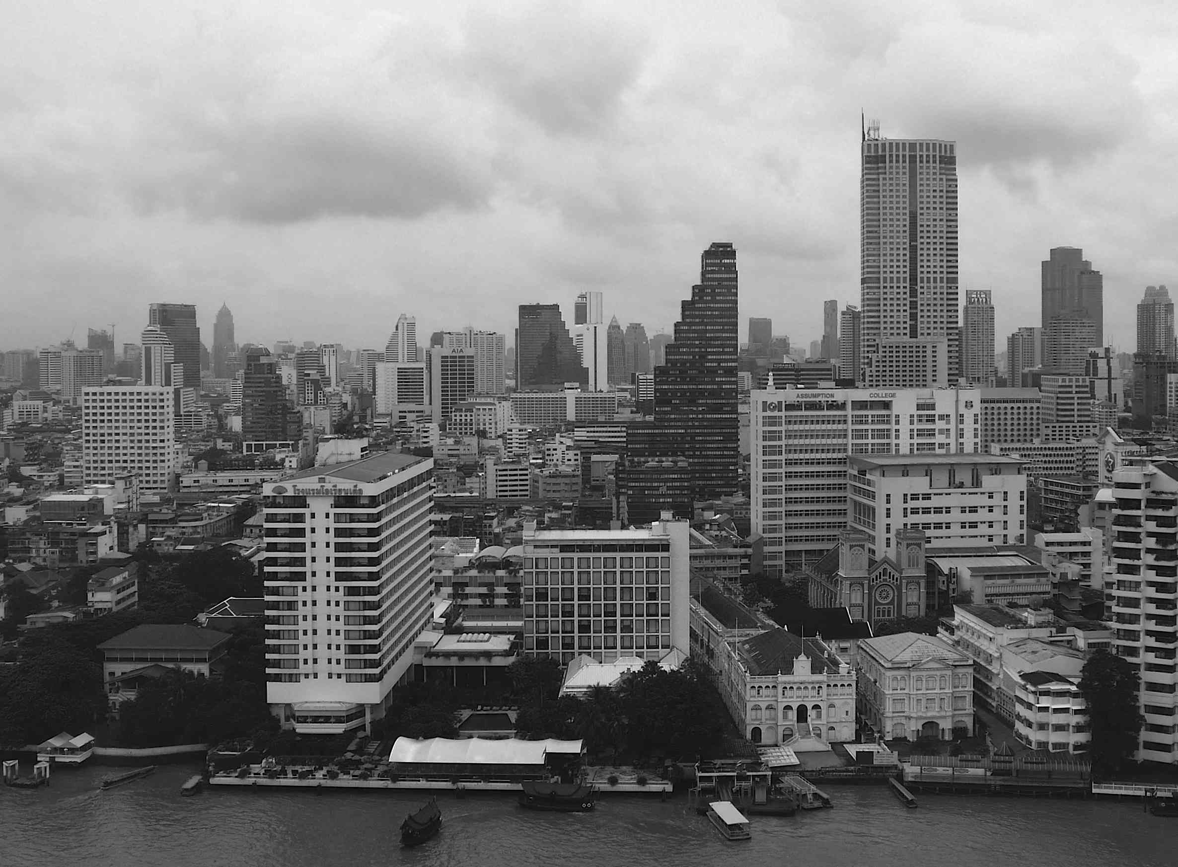 Bangkok Skyline from the Pen